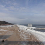 Ostseestrand im Winter